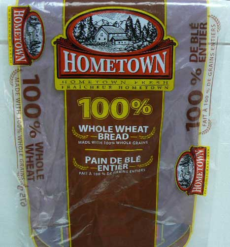 Hometown - 100 % Whole Wheat Bread