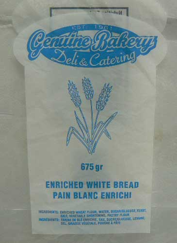Genuine Bakery Deli & Catering - Enriched White Bread
