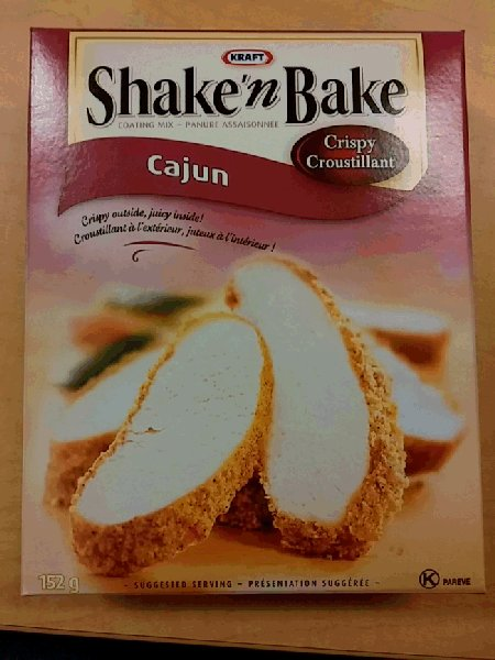 Kraft brand Shake'n Bake Cajun coating mix