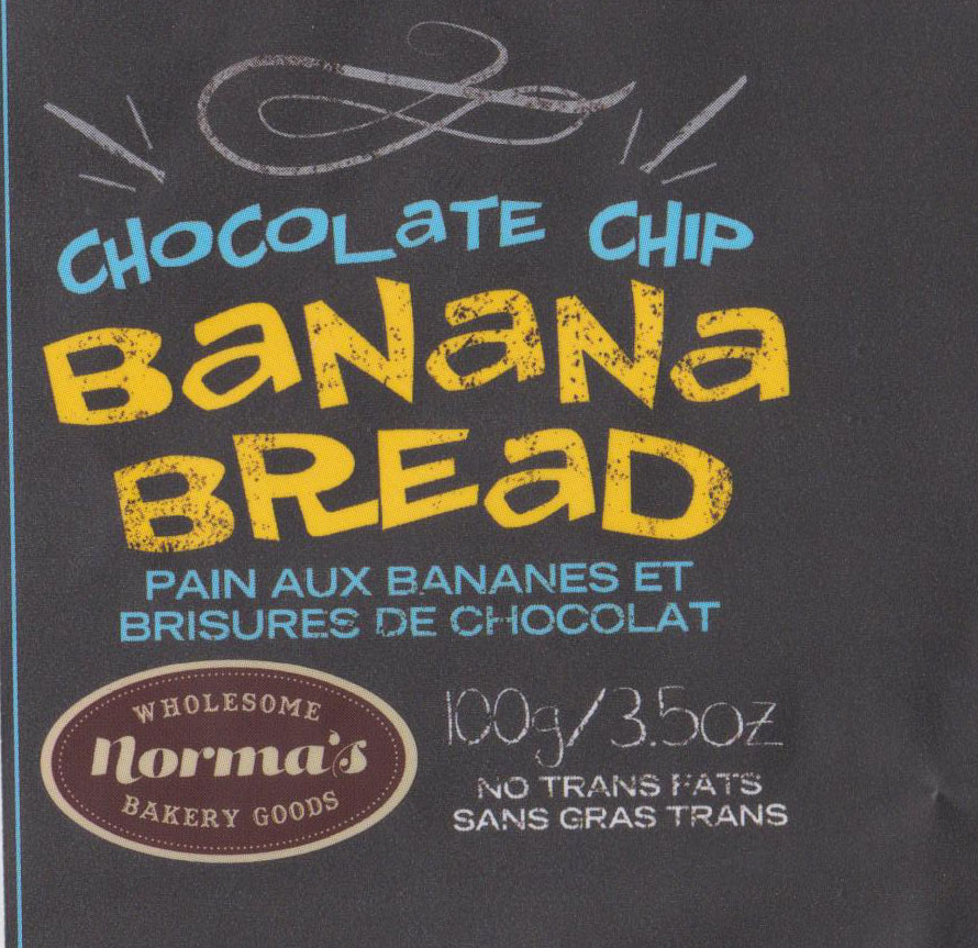 Norma's Wholesome Bakery Goods Chocolate Chip  Banana Bread