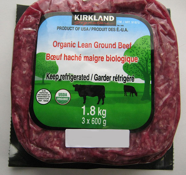Kirkland Signature Organic Lean Ground Beef - 1.8 kilograms