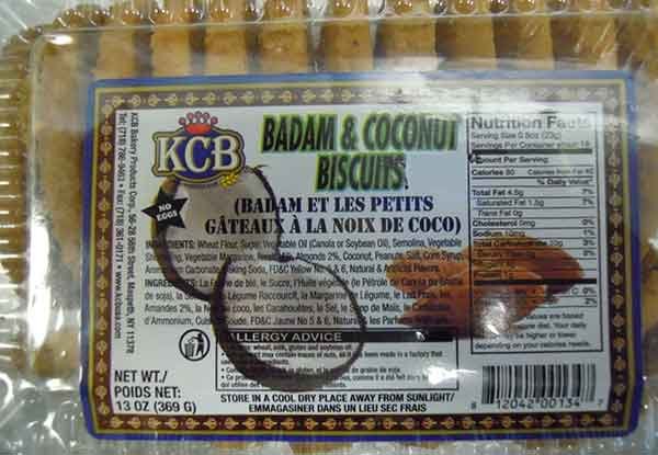 Badam and Coconut Biscuits - 369 g