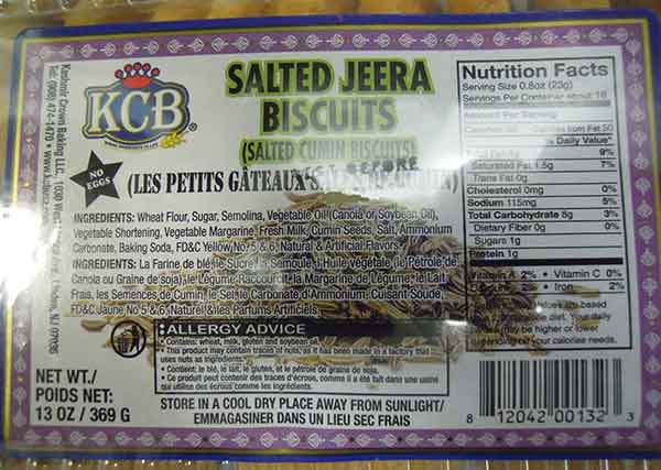 Salted Jeera Biscuits small - 369 g