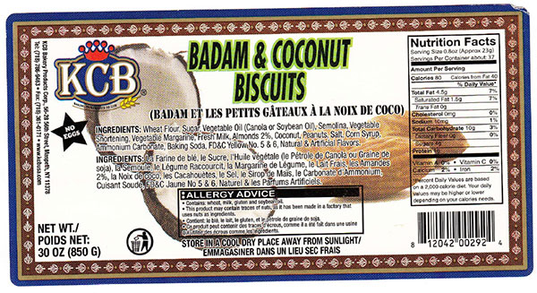 Badam and Coconut Biscuits - 850 grams