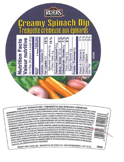 Reser's Fine Foods - Creamy Spinach Dip