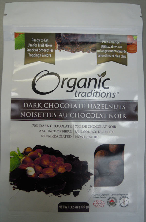 Dark Chocolate Hazelnuts (front) - 100 grams
