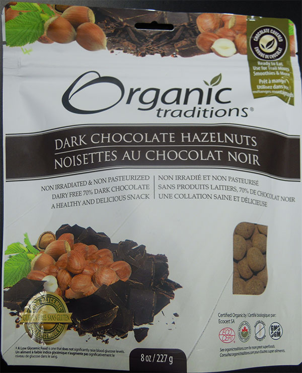 Dark Chocolate Hazelnuts (front) - 227 grams