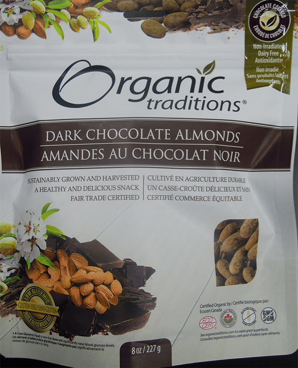 Dark Chocolate Almonds (front) - 227 grams