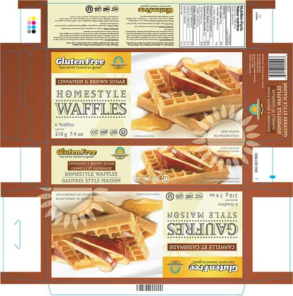 Homestyle Waffles - Cinnemon & Brown Sugar - 210 grams