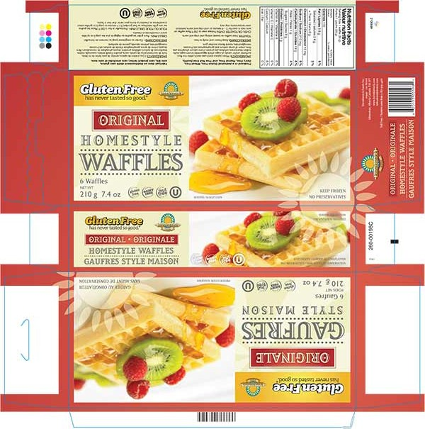 Homestyle Waffles - Original - 210 grams
