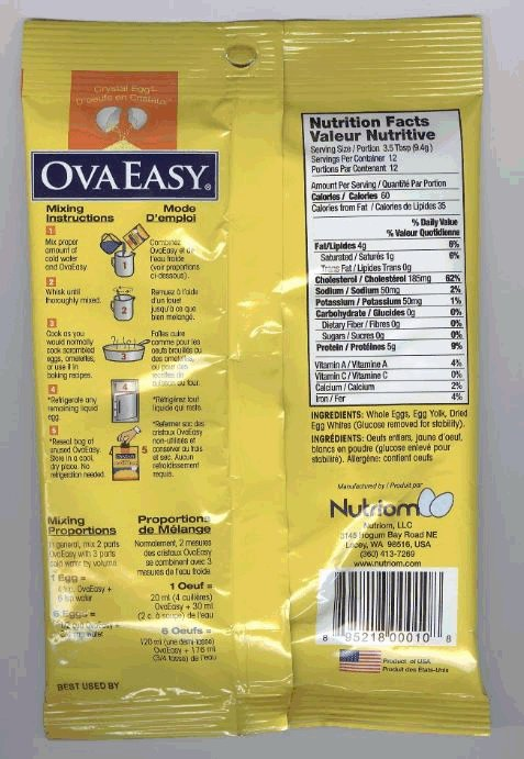 Tasty Nutritious Egg dried egg product - back