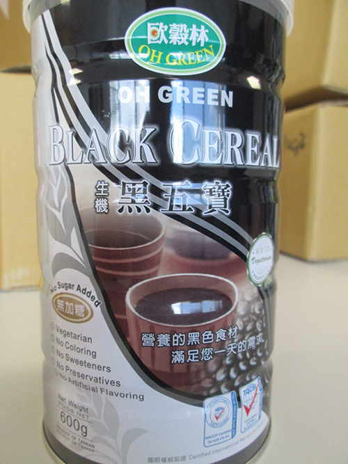 Oh Green brand Black Cereal beverage powder