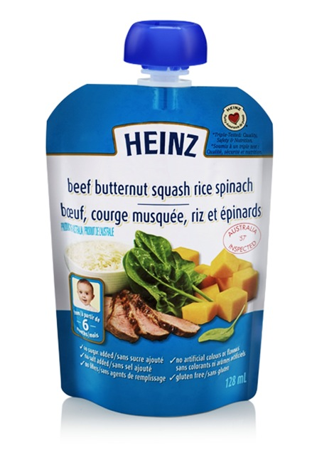 Beef butternut squash rice spinach - 128 ml