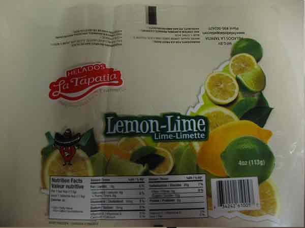 Helados La Tapatia: Lemon-Lime - 4 ounce (113 gram)