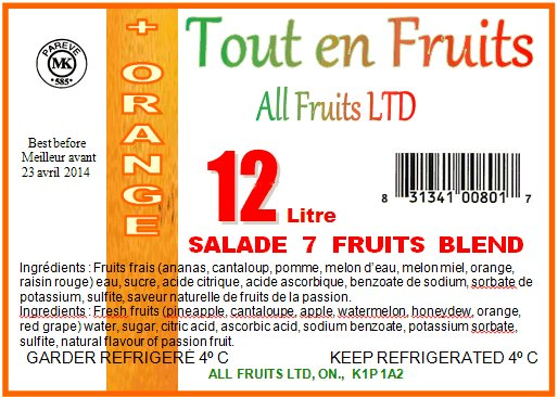 7 Fruits Blend + Orange