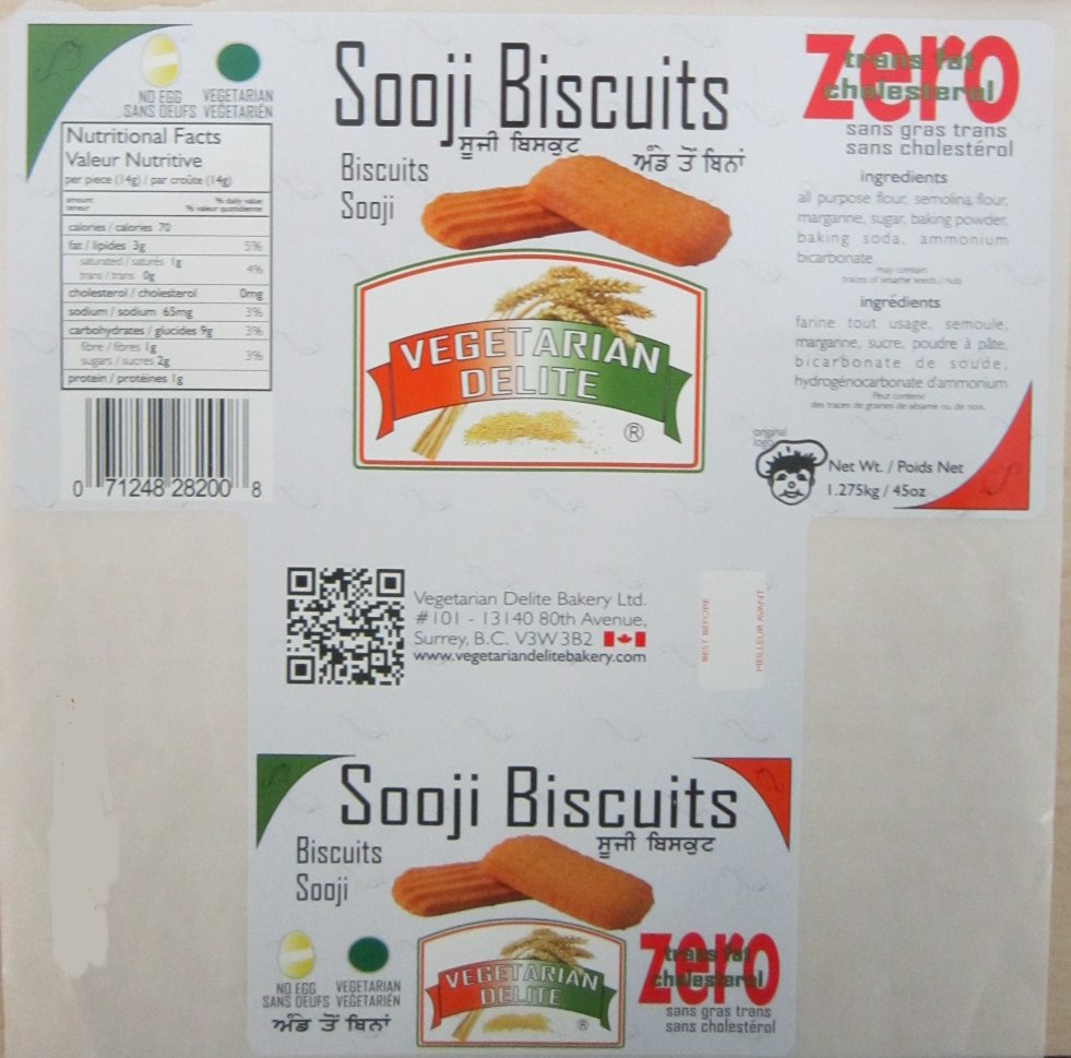 Sooji Biscuits - 1.275 kilograms