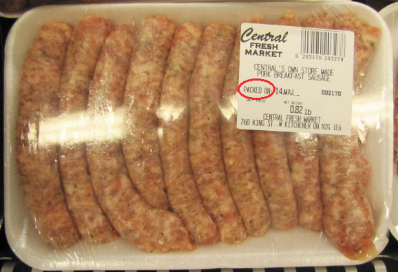 Central's Own Store Made Pork Breakfast Sausage