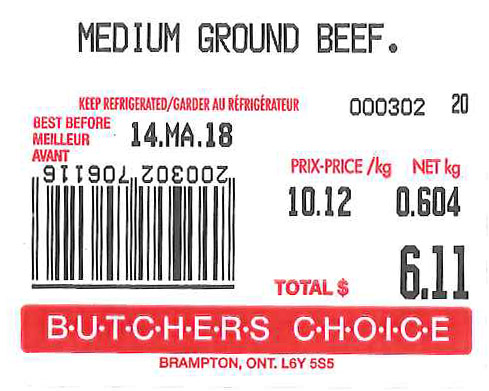 « Medium Ground Beef » - Format variable