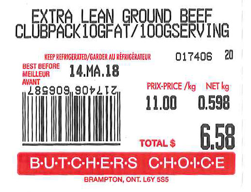 Extra Lean Ground Beef Club Pack 10GFAT/100GSERVING - Variable Size
