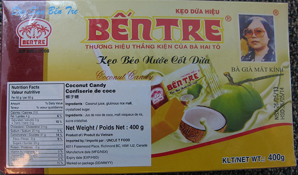Ben Tre Coconut Candy - 400 grams