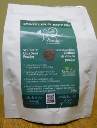 Back 2 the Garden - Sprouted Chia Seed Powder - 200 grams