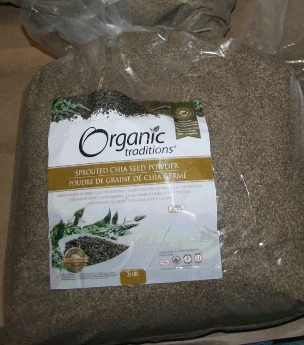 Organic Traditions - Sprouted Chia Seed Powder - 25 pounds