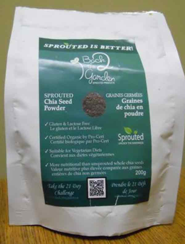 Sprouted Chia Seed Powder - 200 grams