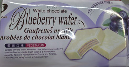 White chocolate Blueberry wafer - 117 grams