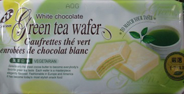 White chocolate Green tea wafer - 108 grams