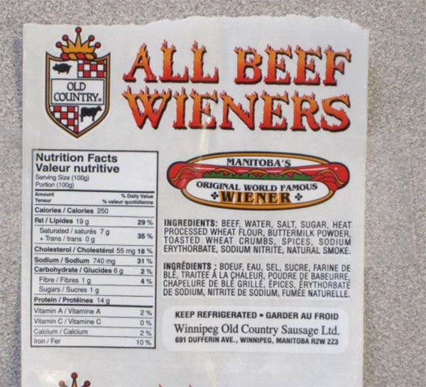 All Beef Wieners - various