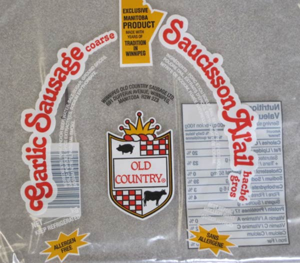 Garlic Sausage Coarse - various
