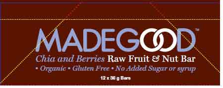 Chia and Berries Raw Fruit & Nut Bar - 12 x 36 grams