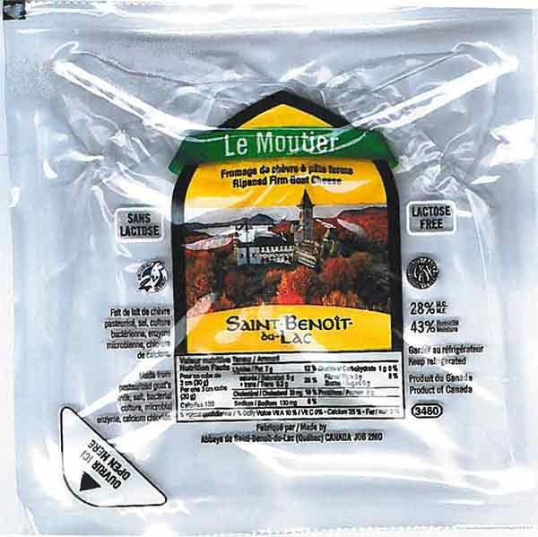 Saint-Benoît-du-Lac brand Le Moutier Ripened Firm Goat Cheese