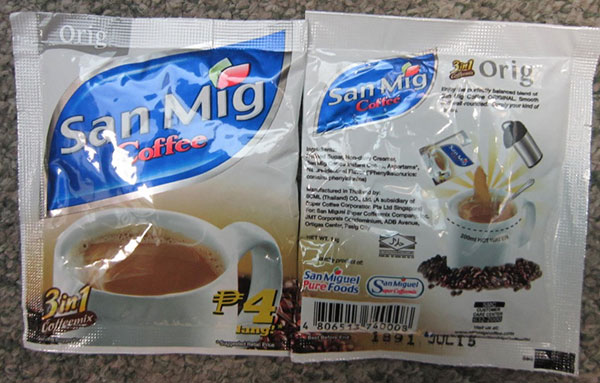 San Mig - 3 in 1 Coffeemix - 14 grams sachet