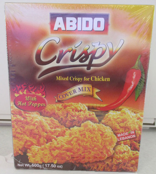 Abido - Crispy Mixed Crispy for Chicken Cover Mix With Hot Pepper - 500 grams