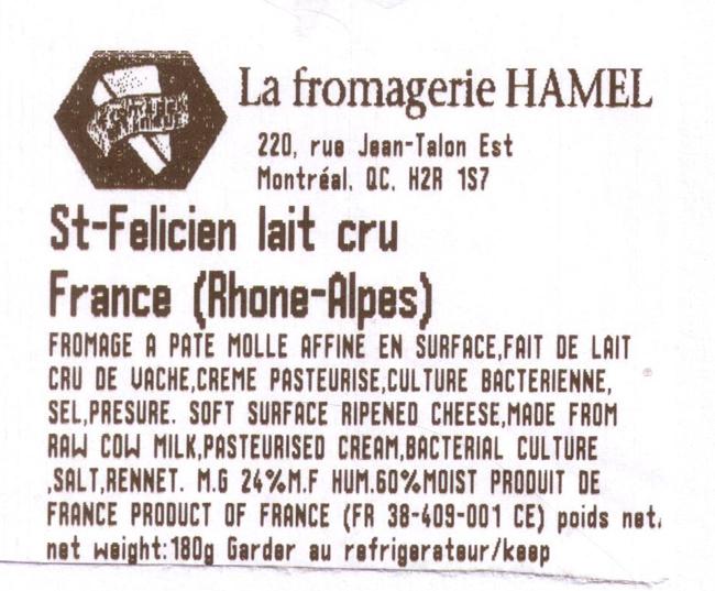La fromagerie Hamel - St-Felicien lait cru France (Rhone-Alpes)