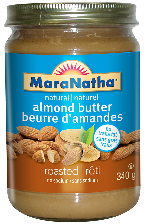 MaraNatha brand natural almond butter - roasted no sodium - 340 g