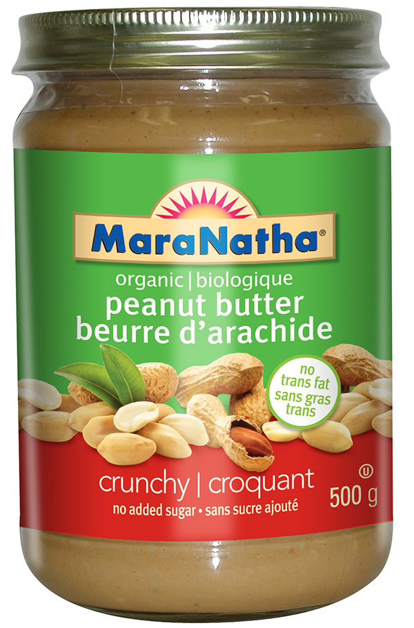 MaraNatha brand organic peanut butter - crunchy no added sugar - 500 g