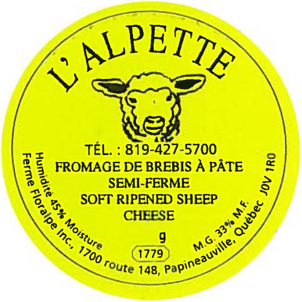 L'Alpette brand Soft ripened sheep cheese - 160 g