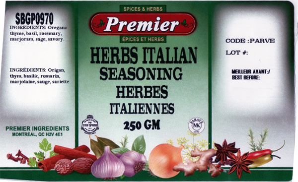 Premier: Herbs Italian Seasoning 250 grams