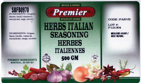 Premier: Herbs Italian Seasoning 500 grams