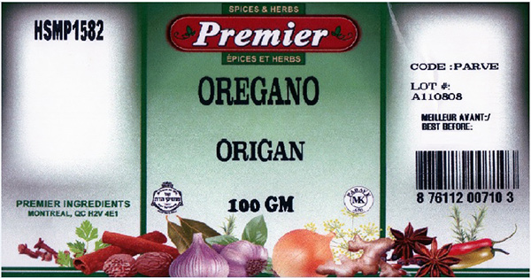 Premier: Oregano - 100 grams