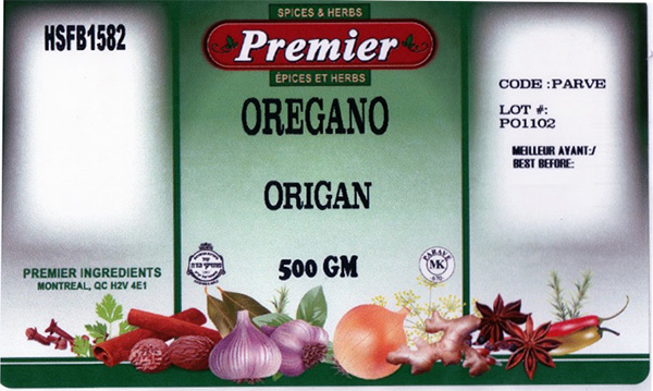Premier: Oregano - 500 grams