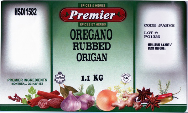 Premier: Oregano Rubbed - 1.1 kilograms