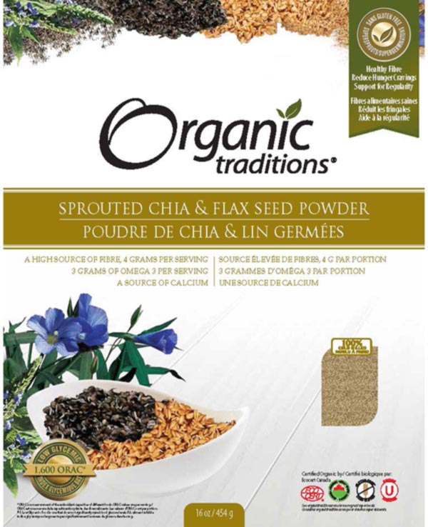 Sprouted Chia and Flax Seed Powder - 454 g