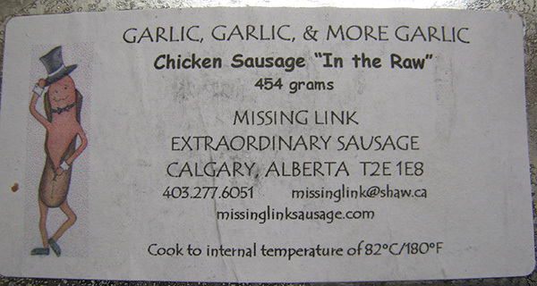 Garlic, Garlic, & More Garlic: Chicken Sausage In the Raw - 454 grams
