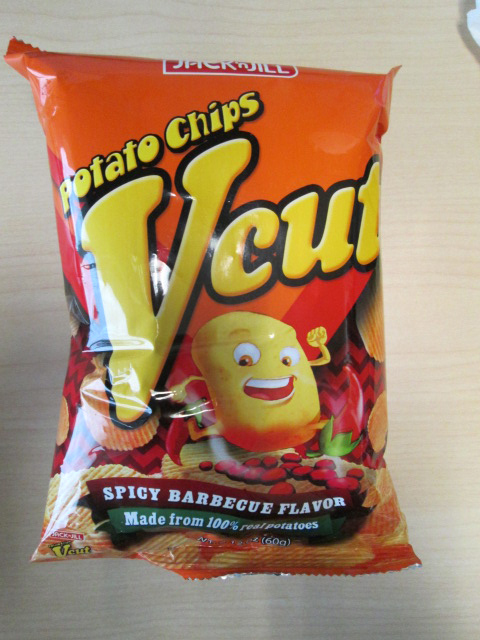 Jack 'N Jill – Vcut  Potato Chips – Spicy Barbecue Flavor – 60 grams