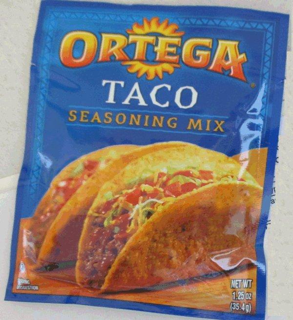 Rappel De « Taco Seasoning Mix » Marque Ortega En Raison La Pictures