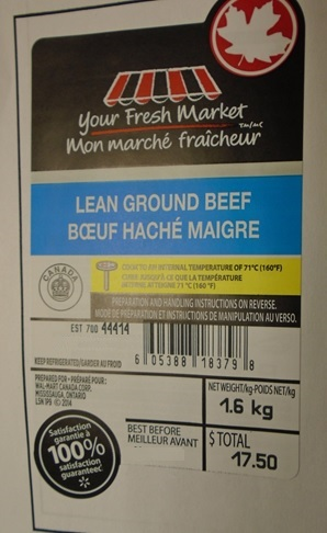 Your Fresh Market - Lean Ground Beef - 1.6 kilograms