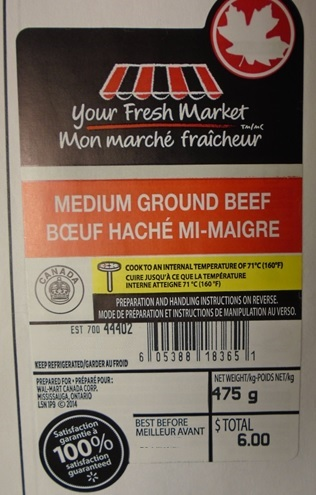 Your Fresh Market - Medium Ground Beef - 475grams